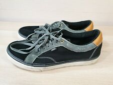 VANS Off the Wall Skate Shoes Black/Grey/Brown Classic Canvas Sneakers Mens UK10