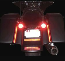 2 Red LED Rear Marker Brake Tail Light Motorcycle Street Bike Custom Universal