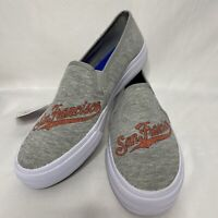 NEW Keds Womens Sz 9 MLBP Series Shoes San Francisco Giants Gray Slip On