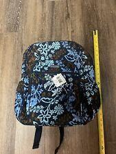 Nwt Vera Bradley Campus Tech Backpack Zip Id Case Set College Work Blue Floral