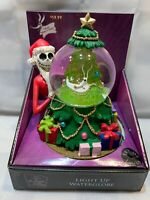 "Nightmare Before Christmas SANTA JACK Light Up Musical 8"" Snow Globe NEW 2019"