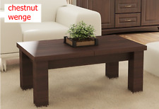 EXTENDABLE QUALITY LARGE COFFEE TABLE/ DINING TABLE 2 in 1 MODERN LIVING ROOM