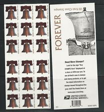 2007 #4128a Liberty Bell Forever ATM pane of 18 MNH with 4128 V11