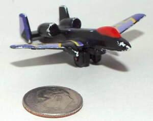 Small Plastic USAF A-10 Tunderbolt II (Warthog) Jet Aircraft in Black & Purple