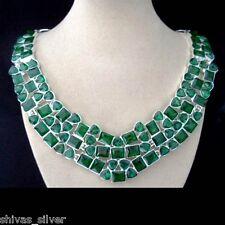 Peridotquarz, grün, facettiert, Kette, neu, Halskette, Collier, Silber plattiert