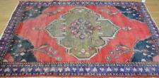 4'7 x 7 Genuine Antique Tribal Kurdish Bird Hand Knotted All Wool Area Rug 5 x 7