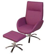 Sessel inkl. Hocker Relaxsessel Fernsehsessel Clubsessel Polstersessel lila
