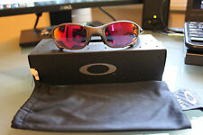 OAKLEY JULIET SUNGLASSES  X-METAL RUBY IRIDIUM LENS WITH JULIET COIN
