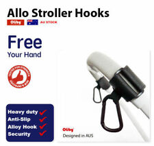 Oliby Universal Stroller Pram Hooks - 2 pcs Shopping Bag Clip Carrier Pushchair