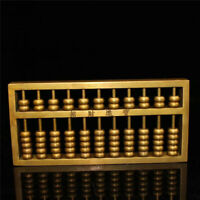 """6.30"""" Collection Chinese pure copper gilt Hand-made beads Abacus"""