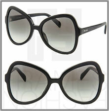 PRADA PR 05S SOFT POP Butterfly Sunglasses Shiny Black Gradient Women PR05SS 05S