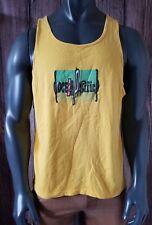 Vtg Vintage 80s Ocean Pacific Surfer Surfboard Beach Tank Top Yellow Size [Xl]