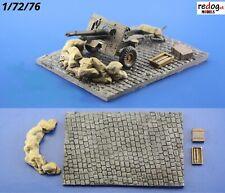 Redog 1/72 - Military Gun Emplacement Scale Model Display Base Kit Diorama D9
