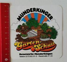 Aufkleber/Sticker: Munderkinger Gartenschau - Betonwerke Munderkingen (110217152