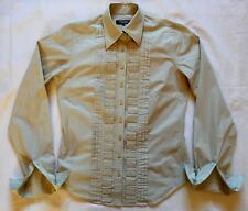 T.M Lewin Womens Pleated Frill front Shirt 8