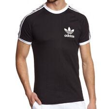 Adidas Originals Essentials Camiseta Hombre Blanco Negro Rojo Azul 3 Raya Sport