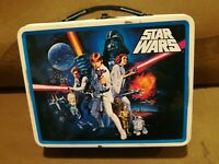 Star Wars Metal Lunch Box A New Hope Episode 4 Tin Tote Lunchbox Luke Han Solo