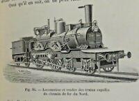 """LIVRE ANCIEN """"LES CHEMINS DE FER"""" 1888, LEFEVRE & CERBELAUD"""