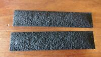 "Pair of Resin HO Scale Black Coal Loads for Athearn and others 5.375"" x 1.25"""