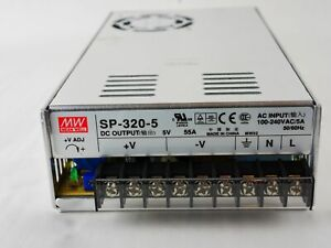 MEAN WELL MW Switching Power Supply SP-320-5 AC In 100-240V AC/5A 50/60HZ DC Out