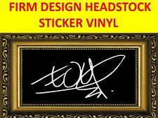 STICKER FIRM WHITE THE EDGE U2 DESIGN VISIT MY STORE FOR GUITAR & BASS CUSTOM
