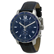 Tissot Quickster Chronograph Blue Dial Blue Leather Mens Watch -AU