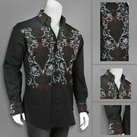 Men's Stylish Casual Dress Shirt Black White M L XL 2XL 3XL 4XL SG37