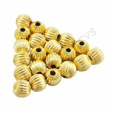 High quality Gold & Silver Plated Watermelon Spacer Loose Beads Charms 6 8 mm