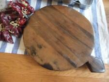 SOUTHERN INDIAN ANTIQUE VINTAGE HAND CARVED SOLID TEAK WOOD CHAPATI BREADBOARD