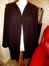 Gorgeous Doris Streich Black Crepe Jacket  UK 20 Worn Once