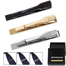 3Pcs Mens Tie Bar Pinch Necktie Clip Set Regular Ties 2.1 Inch With Gift Box NEW