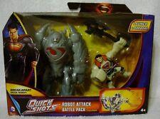 Man of Steel Quick Shots Robot Attack Battle Pack Mattel Superman READ