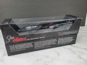 "Sultra  The Seductress Curl Wave Straight 1"" Ceramic Hair Iron New, Sealed"