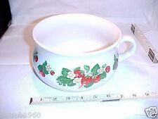 Lord Nelson ONE HANDLE BOWL Large Pottery Cup, Pot 5-78 RARE STRAWBERRY PATTERN