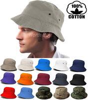 Bucket Hat Cap Fishing Boonie Brim visor Sun Safari Summer Mens Womens Camping