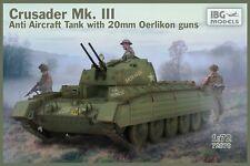 IBG 1/72 Model Kit 72070 Crusader Mk.III Anti Aircraft Tank with 20mm Oerlikon G