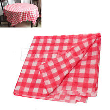 Red Gingham Disposable Tablecloth Check Oil Cloth Yardage Picnic Wedding Party