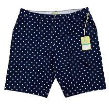NWT Caribbean Joe Navy Blue With White Stars Women Bermuda Shorts Size 16