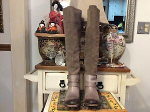 Women's Lucky Brand Harleen Brown Tall Over The Knee Boot Size 7.5M