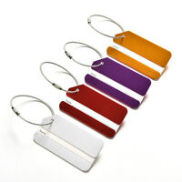 Aluminum Metal Luggage Tags Labels Strong Baggage Holiday Travel Identity FJ