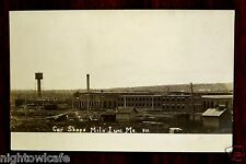 BANGOR & AROOSTOOK RAILROAD CAR SHOPS Milo Junction Derby ME Photo Postcard 1906