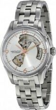 HAMILTON JAZZMASTER OPEN HEART SILVER DIAL STAINLESS MEN'S WATCH auto H32565155