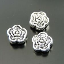 159pcs Antiqued Silver Alloy Flower Shaped Beads Findings 7*7*3mm 39287