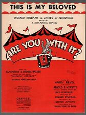 This is My Beloved 1945 Are You With It Sheet Music