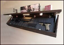 "47""XL Rustic Pine  Hidden Compartment Tactical Gun Concealment Shelf  AR 15"