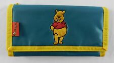 Vintage Winnie The Pooh Velcro Wallet Check Book Holder Green Yellow