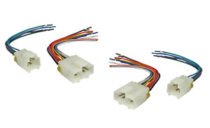 2 SETS Car Stereo Aftermarket Radio Wiring Harness for 1982-1996 Nissan Infiniti