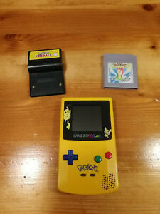 Nintendo Game Boy Color ** Pokemon Edition ** mit 2 Pokemon Spielen  Top Zustand