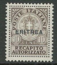 ITALIENISCH-ERITREA 1939, Wappenzeichnung. Italienische staatliche Gebührenmarke