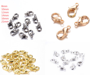 25 Parrot Claw Lobster Clasps Jewellery Findings Clip Toggle Hook 8mm ~ 21mm